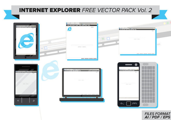 Internet Explorer Free Vector Pack Vol. 2 - бесплатный vector #373019