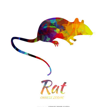 Chinese horoscope rat illustration - Free vector #373179
