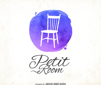 Watercolor chair logo - Free vector #373189