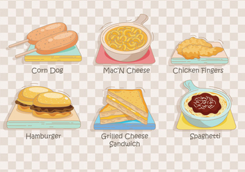 Kids Menu Vector - Free vector #373229