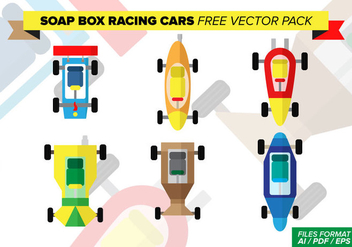 Soap Box Racing Cars Free Vector Pack - бесплатный vector #373259