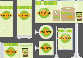 Organic Food Banners - Free vector #373299