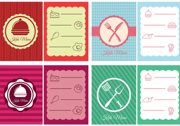 Kids Menu Design - vector gratuit #373329