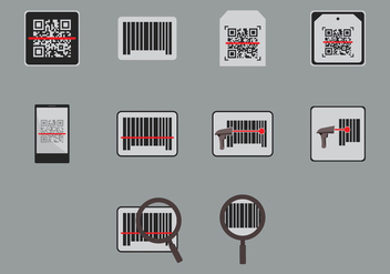 Barcode Scanner Icon - vector gratuit #373339
