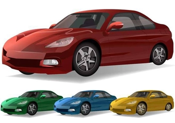Sports Car Vectors - vector #373429 gratis