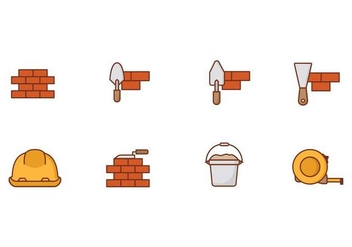 Free Icons Brick Layer Vector - Kostenloses vector #373479