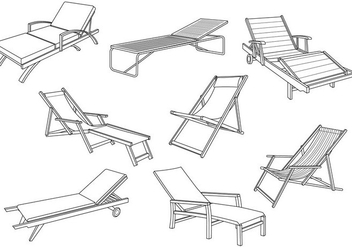 Free Deck Chair Vector - Free vector #373569