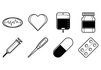 Free Medical Stuff Icon Vector - vector gratuit #373579