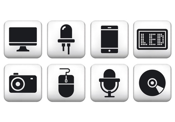 Free Technology Button Icons - vector gratuit #373619