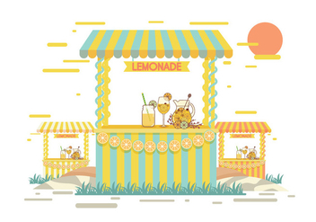 Lemonade Stand Vector - бесплатный vector #373669