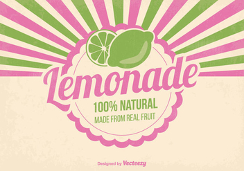 Natural Lemonade Illustration - бесплатный vector #373749