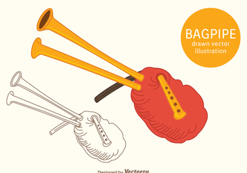 Free Bagpipe Vector Illustration - vector gratuit #374049
