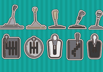 Gearbox Vector Icons - бесплатный vector #374099