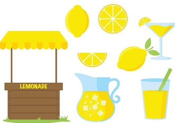 Lemonade Stand Vector Icon - vector #374109 gratis
