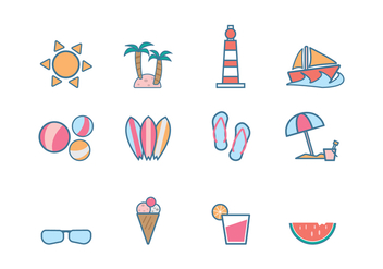 Free Beach Icon Vector - vector gratuit #374139
