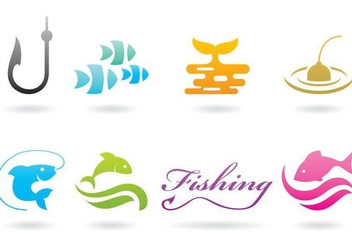 Pike Fishing Logos - vector gratuit #374159