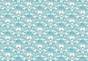 Free Vector Soft Blue Western Flourish Pattern - Free vector #374259