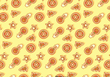 Christmas Ginger Bread Seamless Pattern - Free vector #374399
