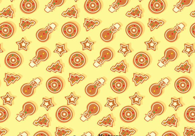 Christmas Ginger Bread Seamless Pattern - vector gratuit #374399