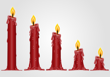 Burned Out Red Candle - vector gratuit #374449