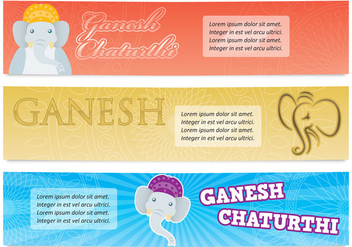 Ganesh Banners - Kostenloses vector #374579