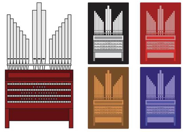 Pipe Organ illustration - vector gratuit #374629