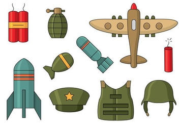 Free World War 2 Icons - vector gratuit #374649