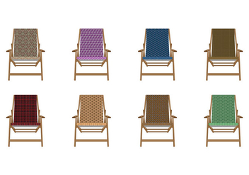 Free Pattern Canvas Deck Chair Vector - Free vector #374679