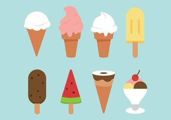 Free Flat Ice Creams - Free vector #374689