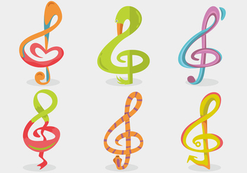 Violin Key Vector Set - vector #374749 gratis
