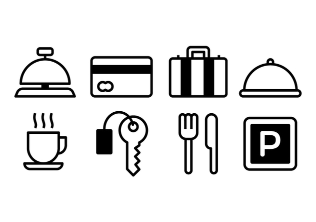 Free Hotel Icons - Free vector #374779