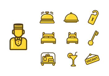 Concierge Icon Vector Set - Kostenloses vector #374869
