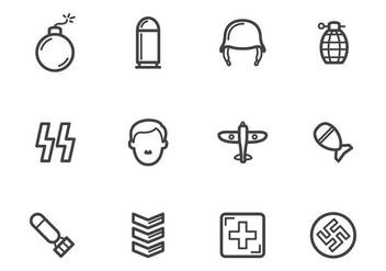 Free World War 2 Icons - vector gratuit #374909