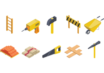 Free Isometric Bricklayer Vector - vector #374929 gratis