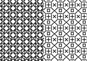 Black White Geometric Pattern - vector gratuit #374979