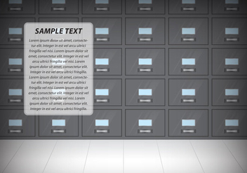 Cabinet Wall Template - vector #375019 gratis