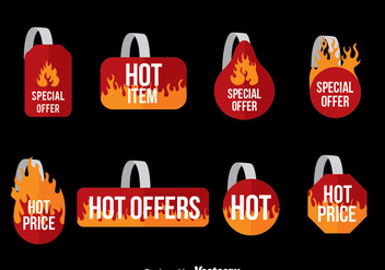 Hot Offers Wobbler Set Vector - vector gratuit #375039