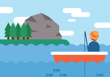 Adventure While Fishing - vector #375049 gratis