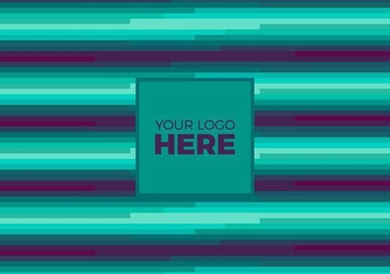 Free Vector Teal Logo Background - Kostenloses vector #375119
