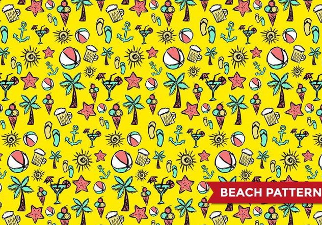 Beach Pattern Vector - бесплатный vector #375169