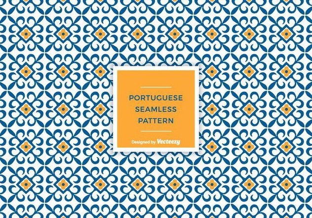 Free Portuguese Tile Vector Pattern - Free vector #375199