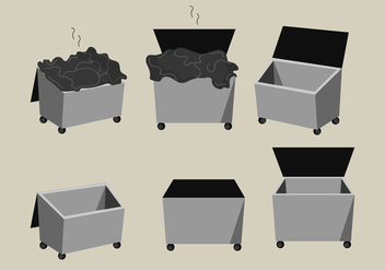 Dumpster Vector Pack - бесплатный vector #375209