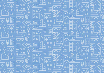 City Outline Pattern - Free vector #375259