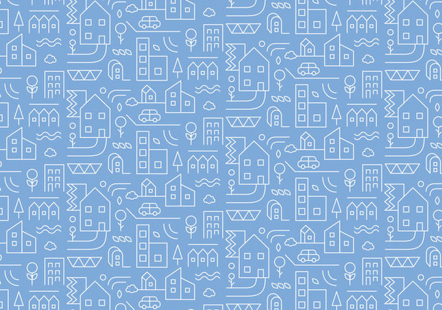 City Outline Pattern - vector gratuit #375259