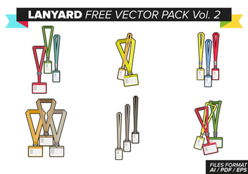 Lanyard Free Vector Pack Vol. 2 - vector #375299 gratis