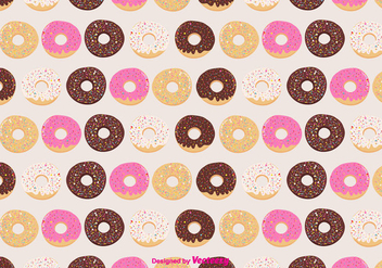 Donuts Vector Pattern Background - Free vector #375329