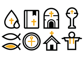 Free Reilgion Icon Set - vector gratuit #375339