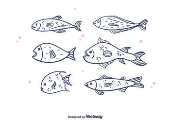 Free Fishes Vector - vector #375349 gratis
