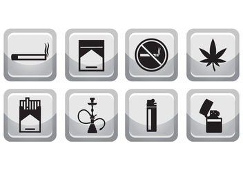 Free Smoking Icon Set - vector gratuit #375469