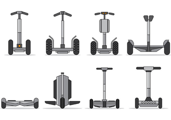 Set Of Segway Vector - vector gratuit #375539
